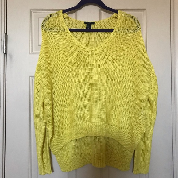 f494a638 H&M Sweaters | Hm Bright Yellow Loose Knit Sweater Size S | Poshmark